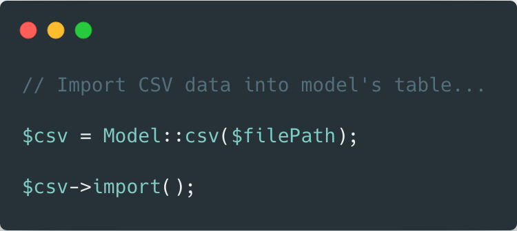 Laravel Csv to Model